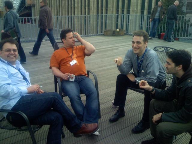 Ein anständiger Blogger raucht! - BarcampRuhr 2008, Unperfekthaus, Essen