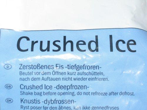 Eis nach dem Auftauen nicht wieder einfrieren