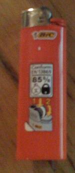 Feuerzeug, kindersicher nach EN13869