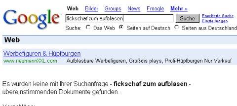 Fickschaf zum Aufblasen bei Google