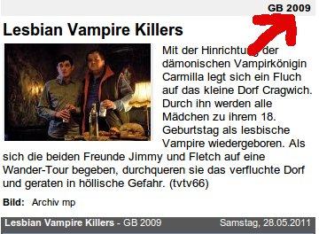 Lesbian Vampire Killers, 2009