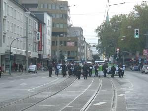 Israel-Soli auf der Antinazidemo in Bochum, leider unerwünscht
