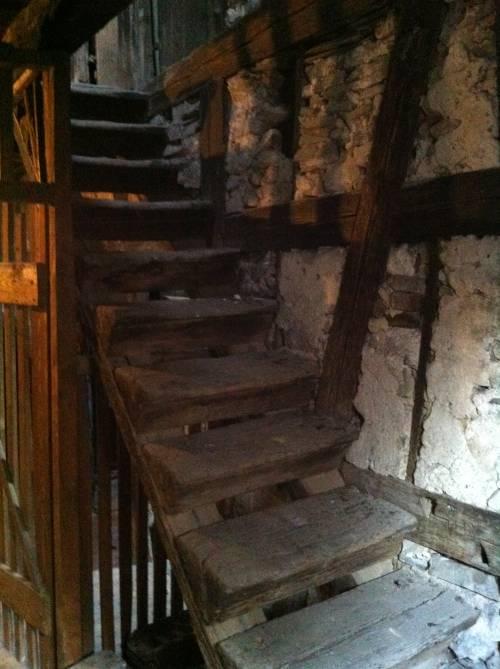 Treppe im Vorderhaus, um 1600