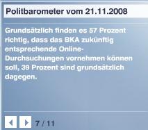 ZDF-Umfrage im Politbaromter zur Onlinedurchsuchung