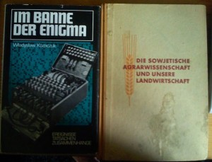 Buchtitel: Im Banne der Enigma von Kozaczuk und der Tagungsbericht zur sowjetischen Agrarwissenschaft und der Landwirtschaft der DDR, ZK der SED 1951