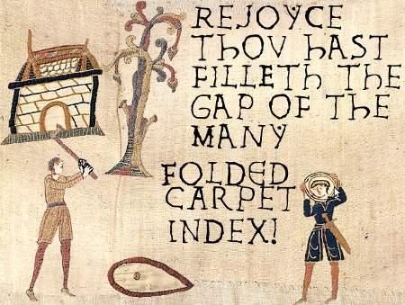 Freuet euch, denn heute ist euch ein Loch des Teppichindexes gestopft worden!