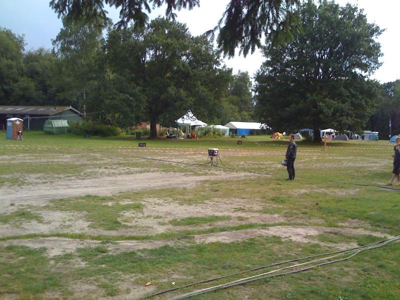 HAR 2009, Aufbauphase und noch recht leerer Zeltplatz
