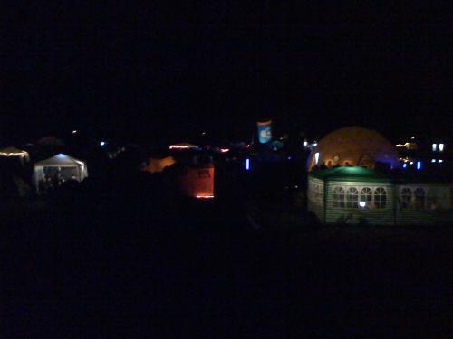 HAR2009, das Camp, nachts