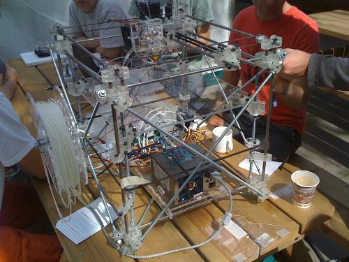 HAR2009: Ein Fabber bzw. 3D-Printer, leider nicht in Action
