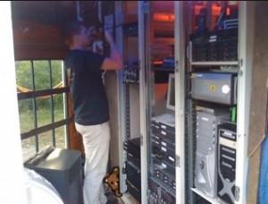 Pedobear approves hiding behind server racks