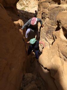 Canyonklettern in der Wüste