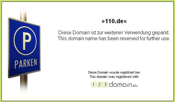 110.de, kein Internet-Notruf