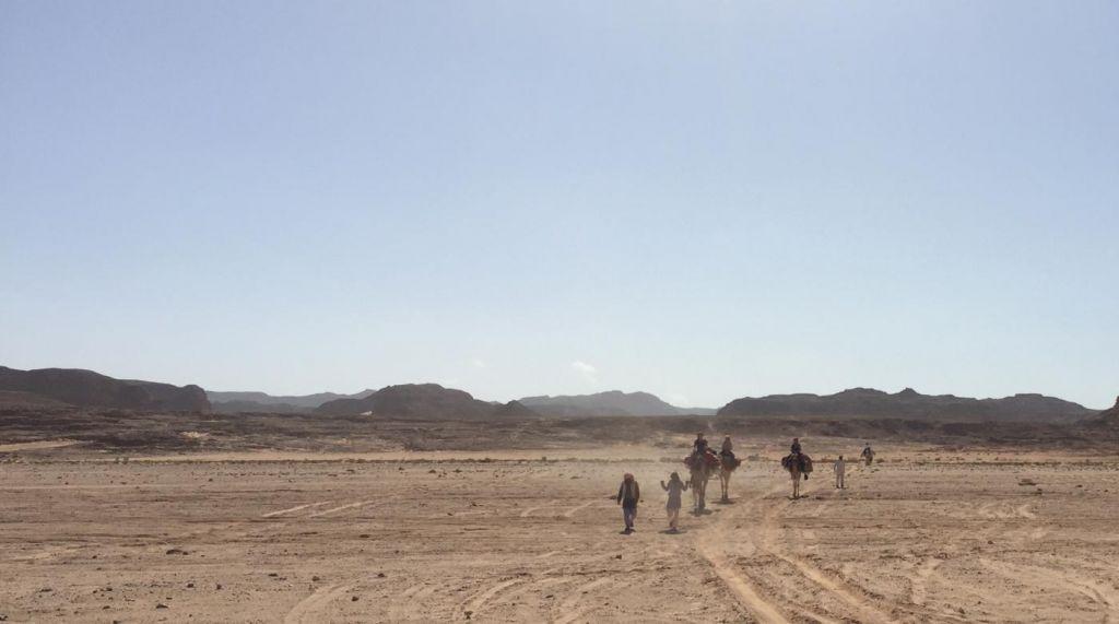 Reiseverlauf: ziemlich halbe halbe auf dem Kamel vs. zu Fuß