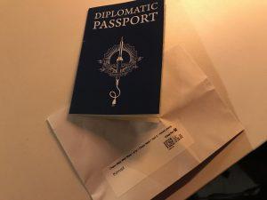 Diplomatischer Pass.