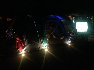 Unser Zelt, abends