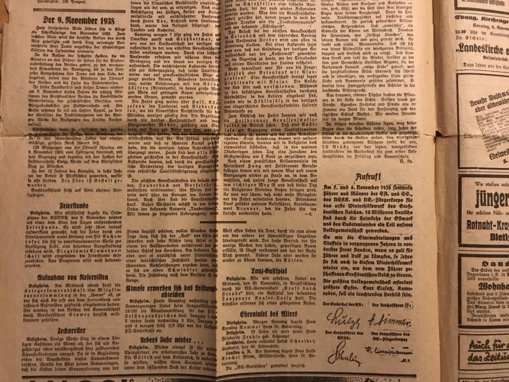 Einladungen zu diversen Veranstaltungen, 1938