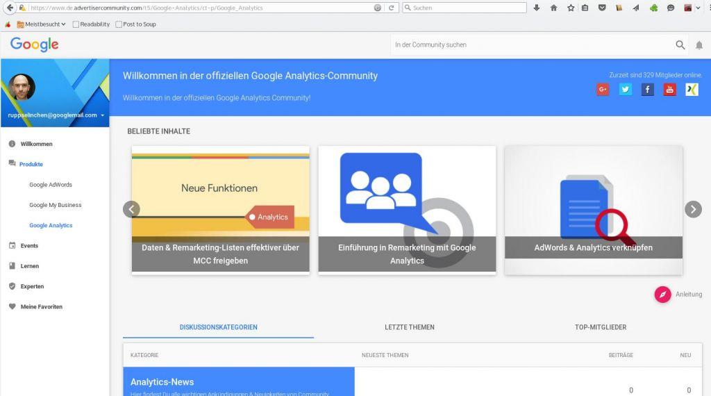 Google Analytics Community, powered by Lithium