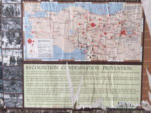 Plakat am armenischen Viertel