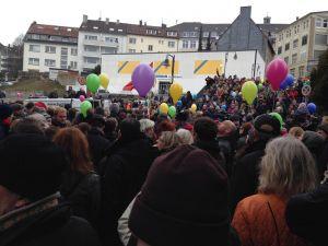 Kundgebung an der Synagoge
