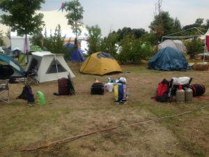 Unser Zeltplatz, leer