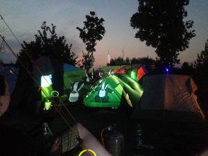 Zelte bebadgern