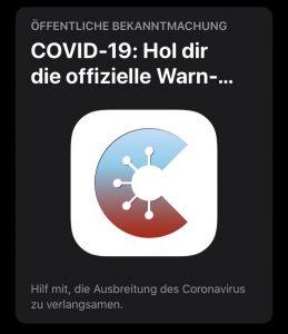 Covid-App im App Store