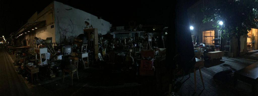 Flohmarktviertel Tel Aviv, nachts