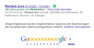 Egogoogeln, deutsch