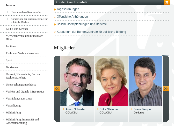 Innenausschuss des Bundestags