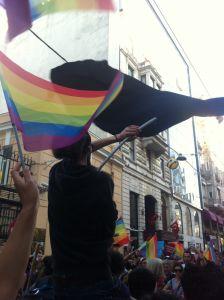 LGBT Pride Vordemo in Istanbul, 6/2014