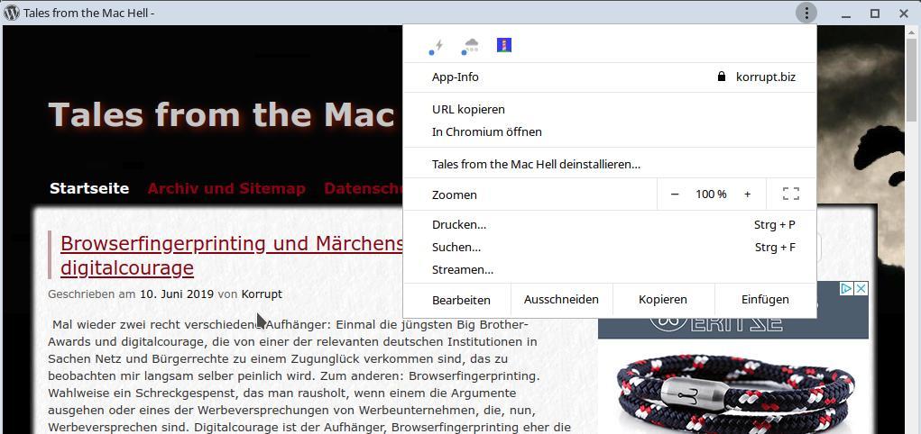 Die Mac-Hölle ist fertig eingerichtet.