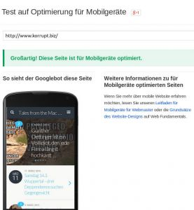 Mobile Test, Google die 2te
