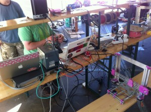 ohm2013, 3D-Printer, Mod. Pink Deconstruction