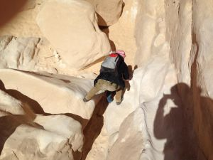 White Canyon, weiterer Abstieg
