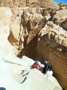 Abseilen im White Canyon