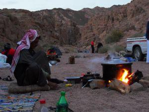 Nachtlager: die Küche