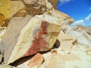 ...und bunte Steine