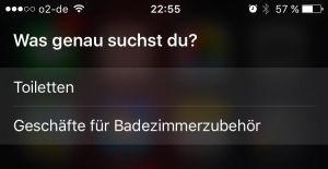 Siri, mein Klo kommt hoch!