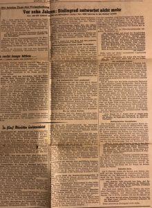 Stalingrad antwortet nicht mehr, 10 jahre später