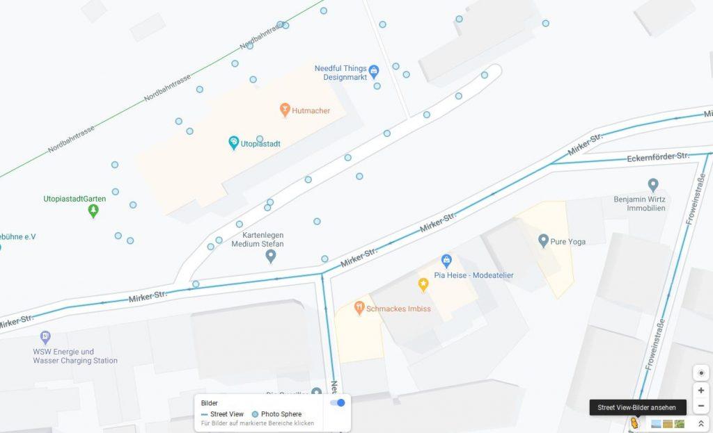 Desktop-Preview mit Streetview-Option
