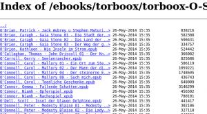 Torboox: ePub-Index, einer von mehreren