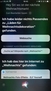 Team Google/Siri versagt